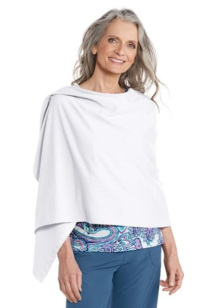 Coolibar---UV-resistant-convertible-shawl---White
